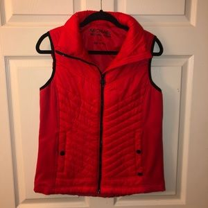Michael Kors Red puff vest